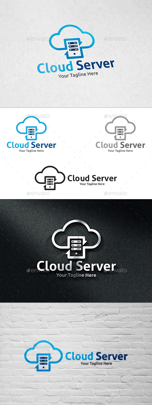 GraphicRiver Cloud Server Logo Template 11144193