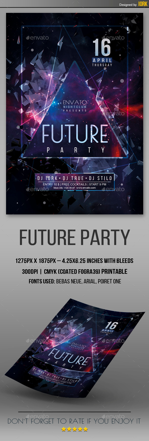 GraphicRiver Future Party Flyer 11144214