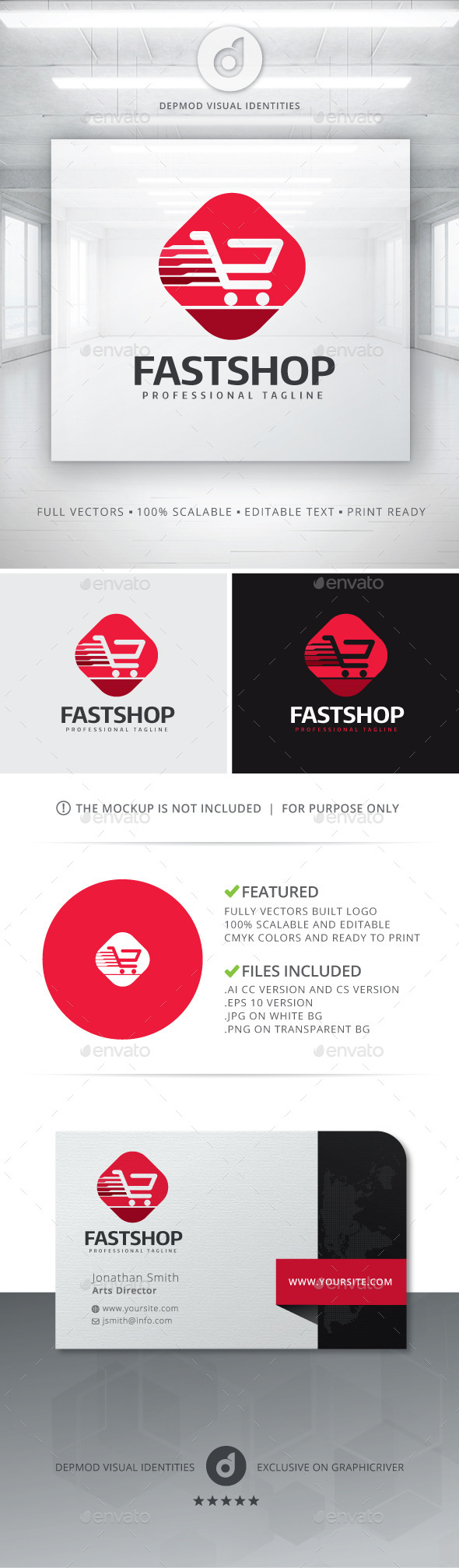 GraphicRiver Fast Shop Logo 11144522