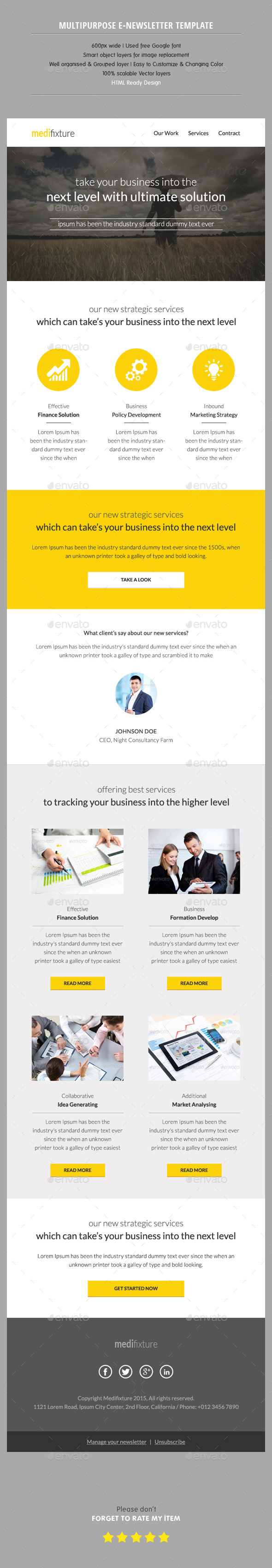 GraphicRiver Multipurpose Enewsletter Template 11098062