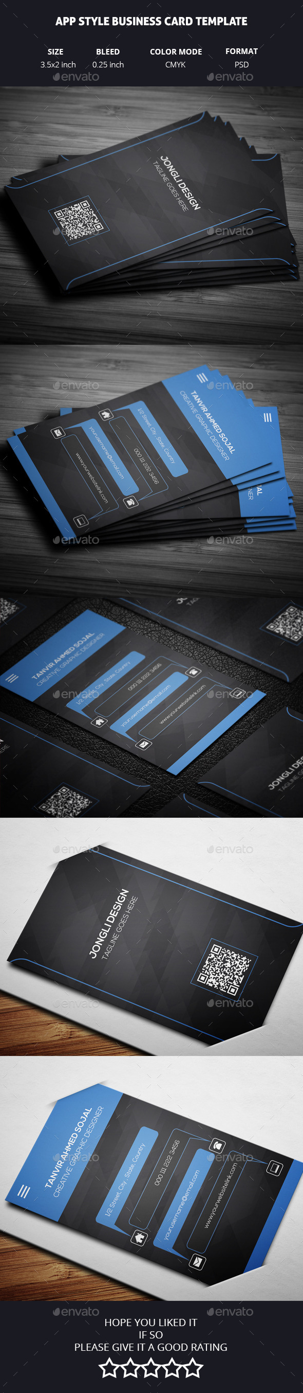 GraphicRiver App Style Business Card Template 11144590