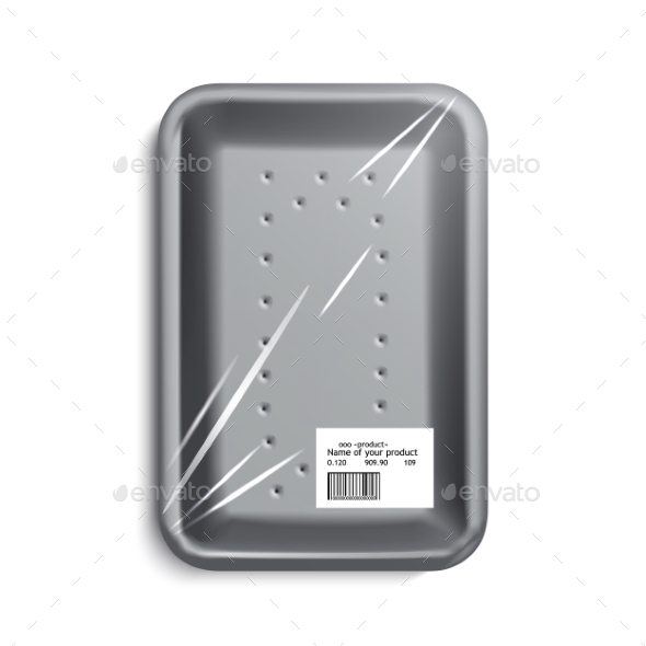 GraphicRiver Empty Wrapped Food Tray 11144613