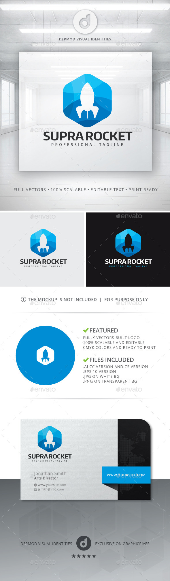 GraphicRiver Supra Rocket Logo 11144624