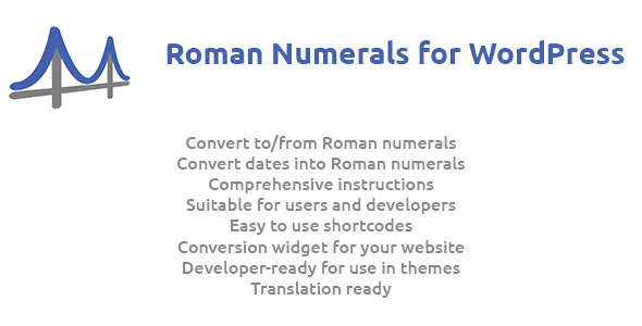 Roman Numerals for WordPress - CodeCanyon Item for Sale