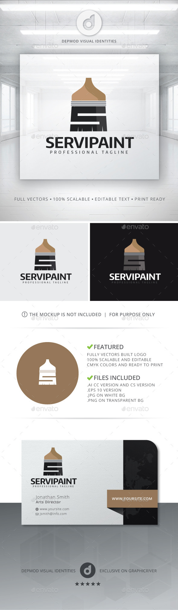 GraphicRiver ServiPaint Logo 11144643
