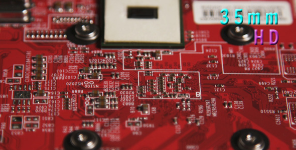 Red Computer Circuit Board 03