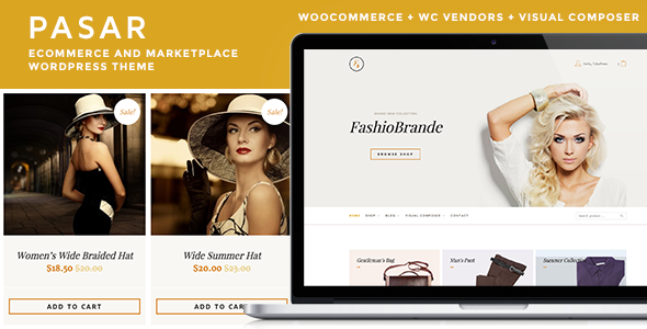 ThemeForest Pasar eCommerce and Marketplace WordPress Theme 11145035