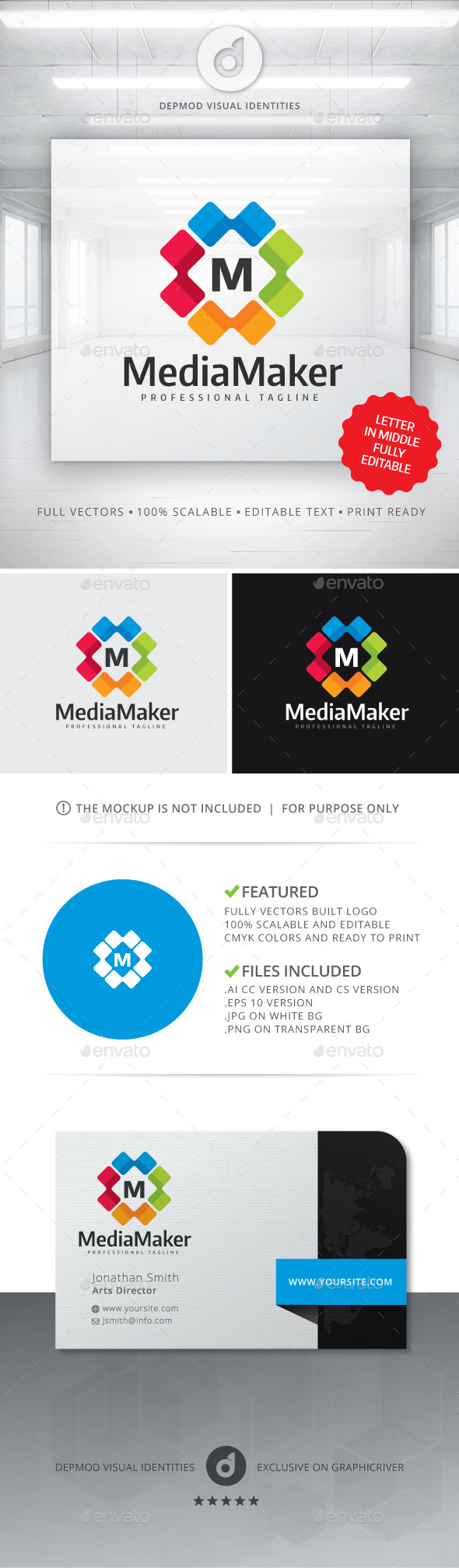 GraphicRiver Media Maker Logo 11145314