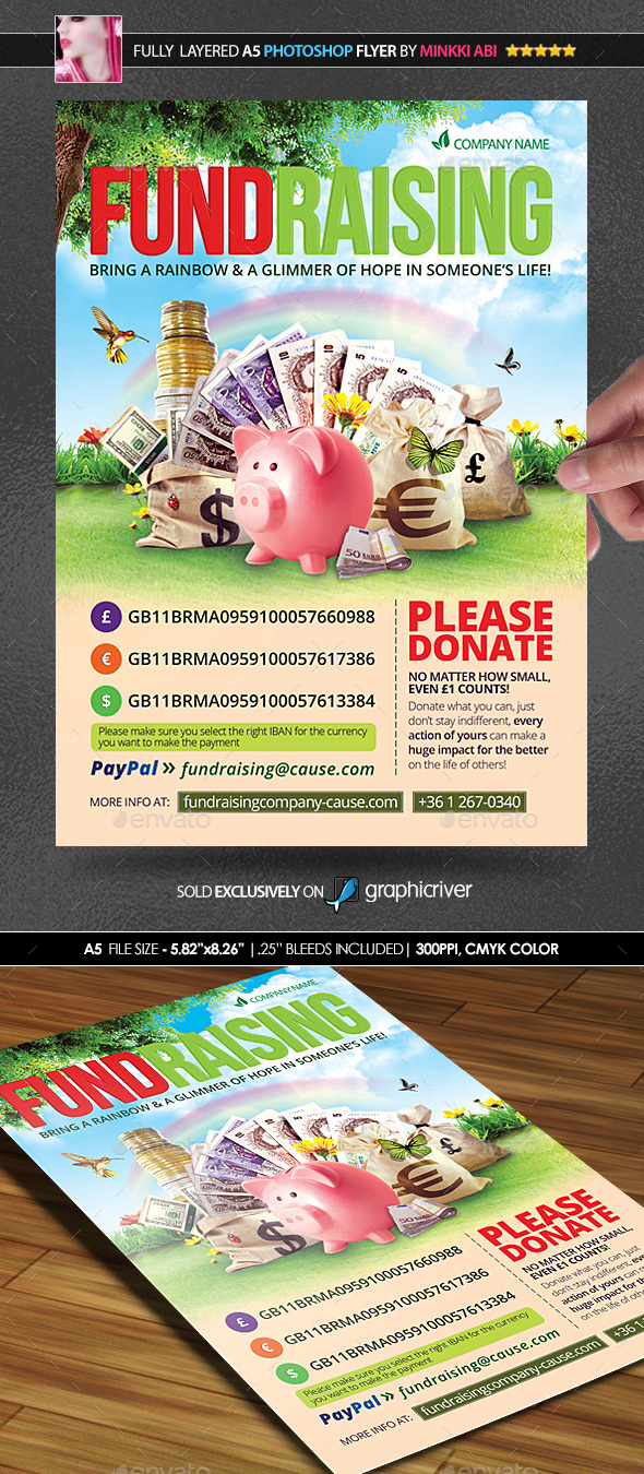 GraphicRiver Fundraising Poster Flyer 11145470