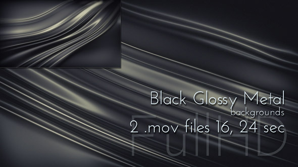 Metal Black Glossy Background