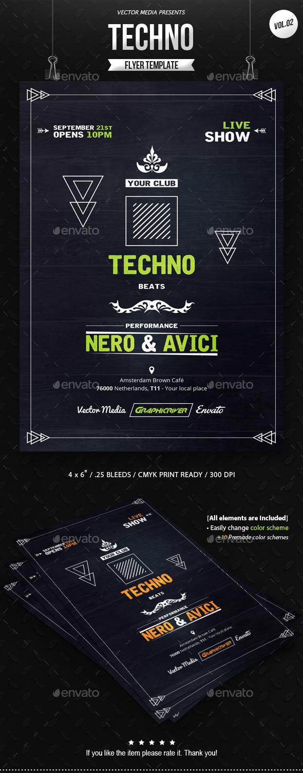 GraphicRiver Techno Flyer [Vol.2] 11146128