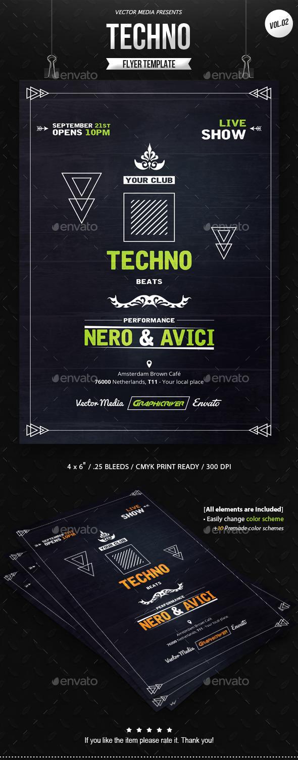 GraphicRiver Techno Flyer [Vol.2] 11146128