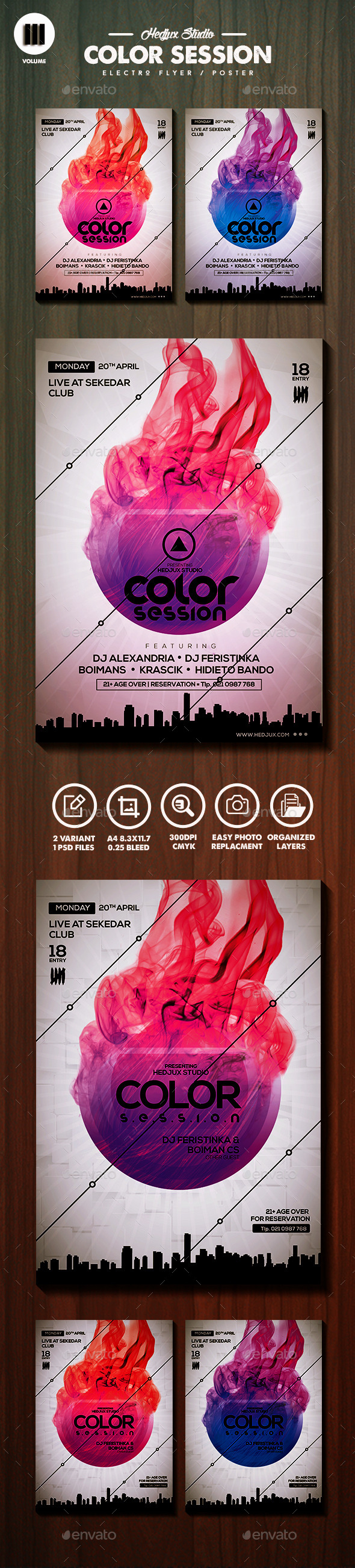 GraphicRiver Color Session Flyer Poster 11146182