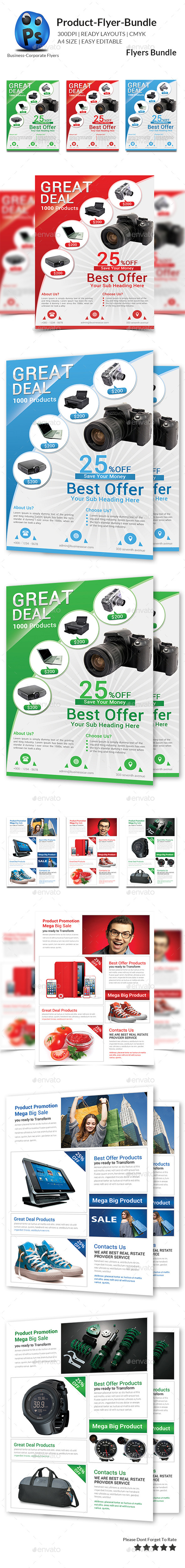 GraphicRiver Product Promotion Flyer Bundle 11146211