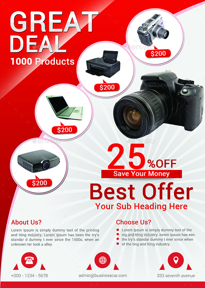 Product Promotion Flyer Bundle by afjamaal – Product Flyer