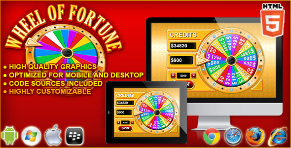 CodeCanyon Wheel of Fortune HTML5 Casino Game 11146232