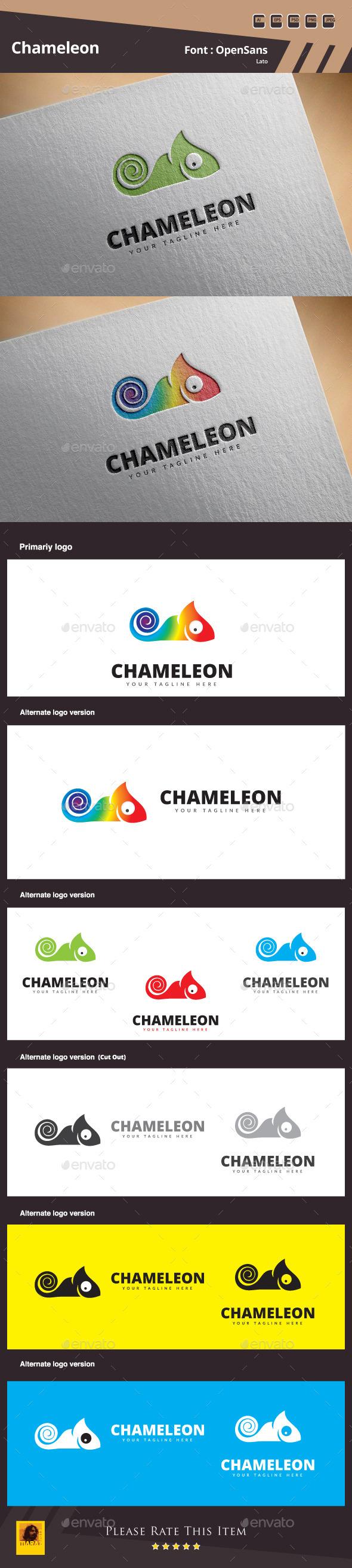 GraphicRiver Chameleon Logo Template 11146236