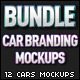Cars Branding Mockups Bundle  - GraphicRiver Item for Sale