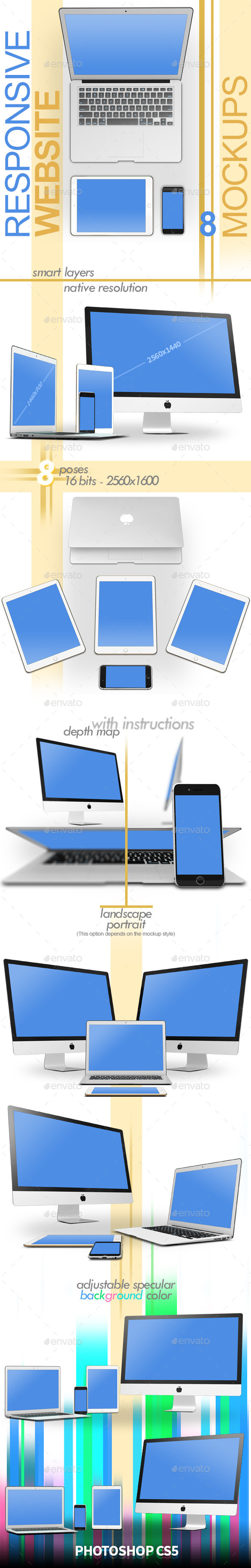 GraphicRiver Responsive Website 8 Mock-ups 11146965