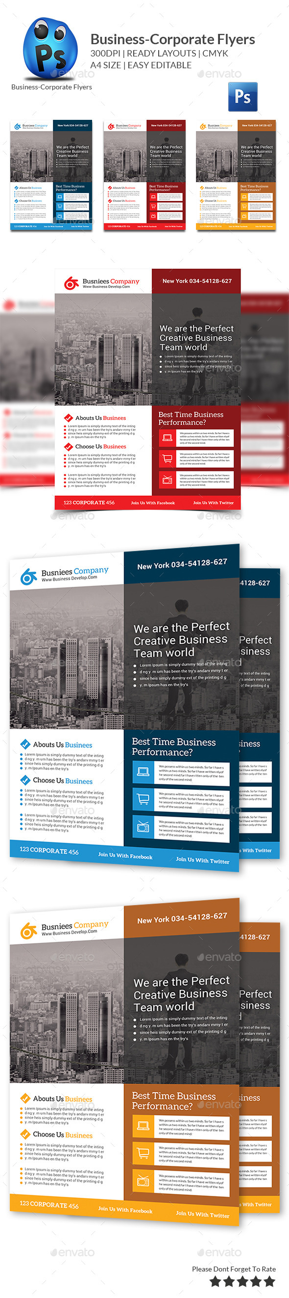 GraphicRiver Corporate Business Flyer Template 11146973