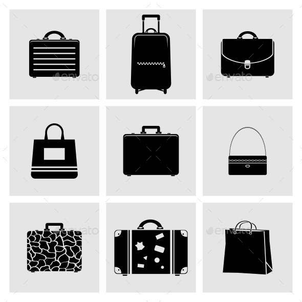 GraphicRiver Bag Icons Set 11147099