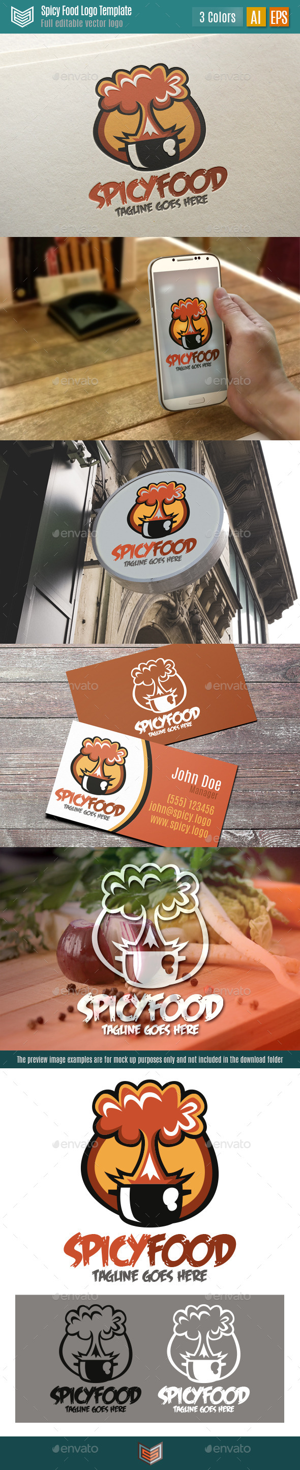 GraphicRiver Spicy Food Logo 11147185