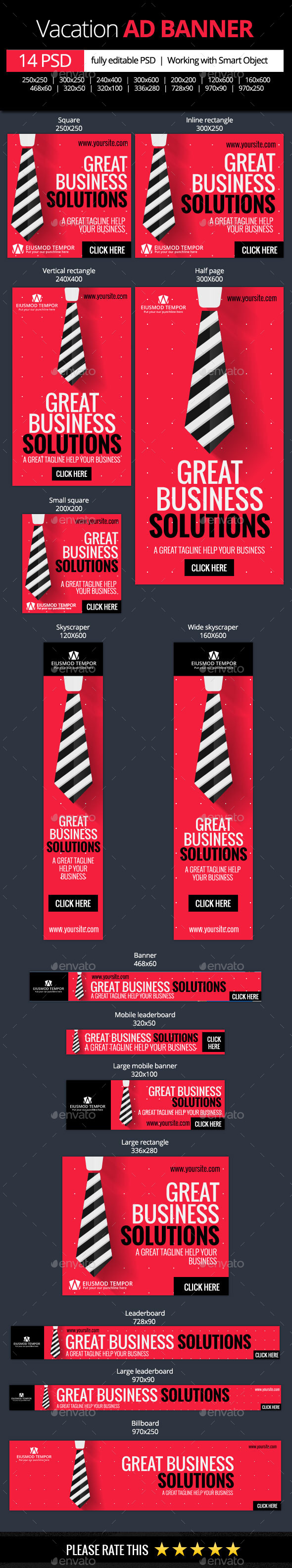 GraphicRiver Corporate and Business Web Banners 11147300