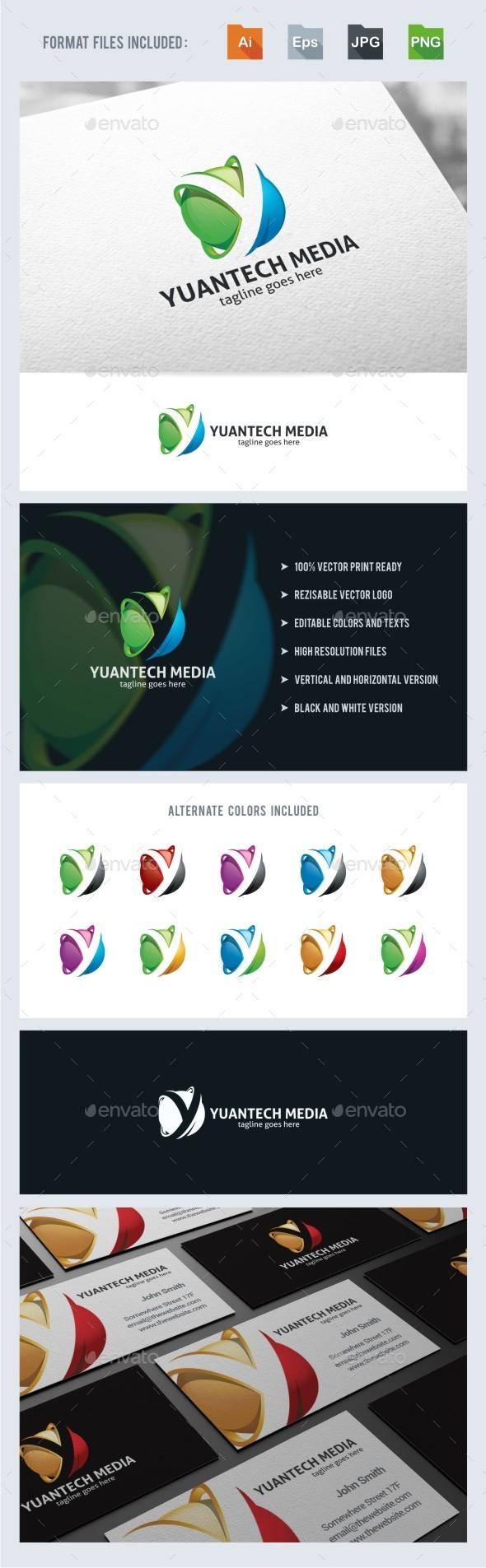 GraphicRiver Y Letter 3D Sphere Logo Tempalte 11147301