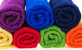 Colorful towels, cotton terry, rolled up. - PhotoDune Item for Sale