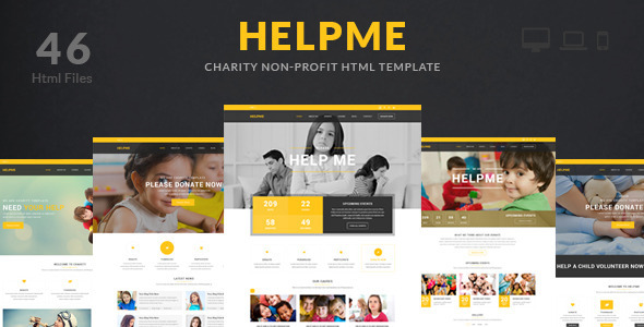 ThemeForest HelpMe Non-profit Charity HTML Template 11062966