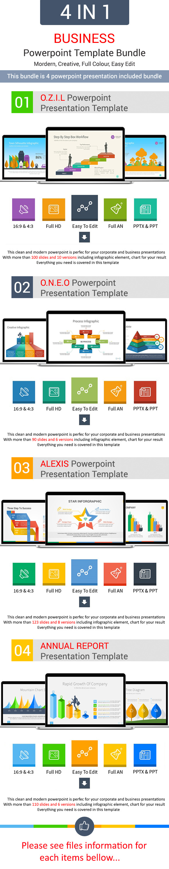 GraphicRiver 4 in 1 Bundle Powerpoint Template 11147935