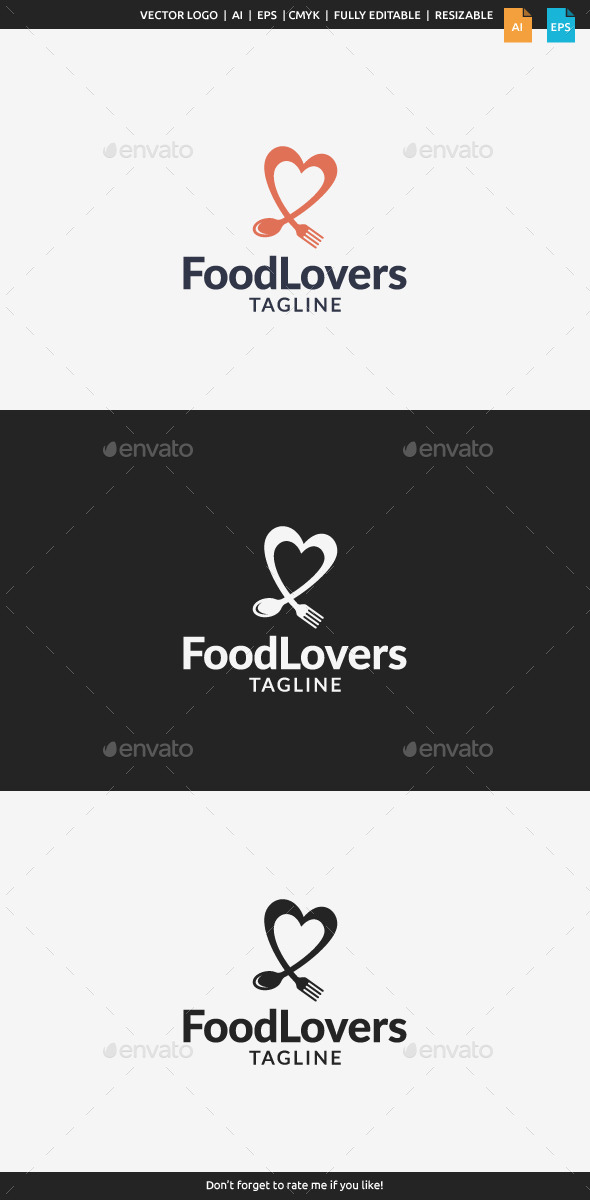 GraphicRiver Food Lovers Logo 11148005