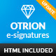 Otrion E-Signatures - 10 Modern E-mail Signatures - GraphicRiver Item for Sale