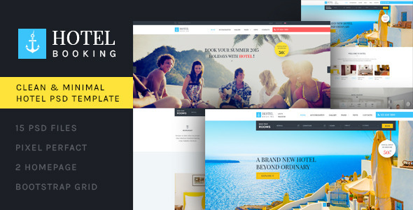 ThemeForest Hotel Booking PSD Template 11148123