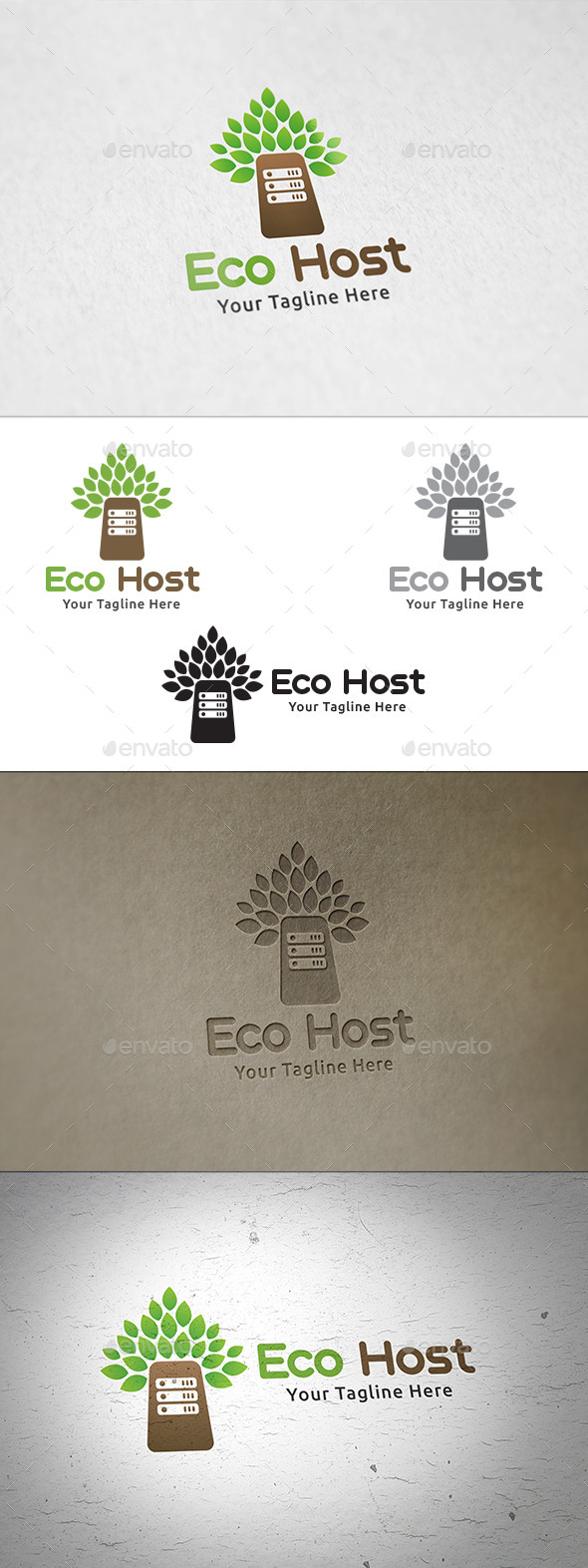 GraphicRiver Eco Host Logo Template 11148135