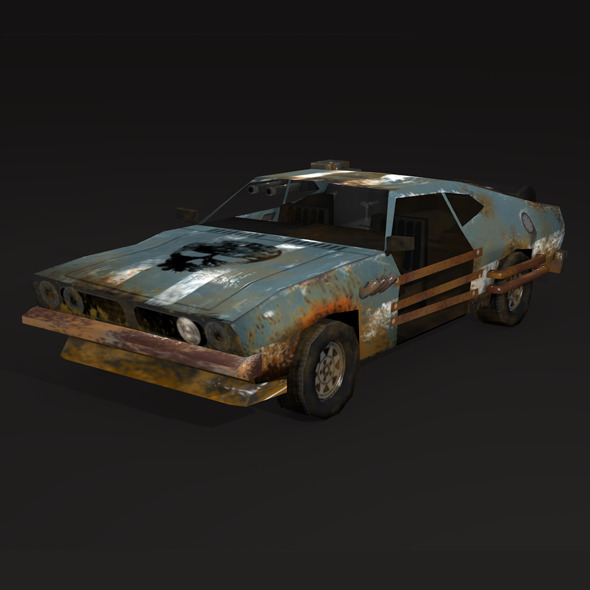 3DOcean postapo Ford Falcon XB 1973 LOW POLY 11148154