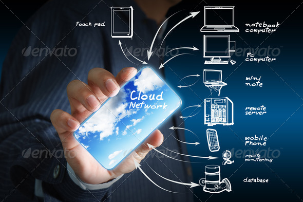 cloud network - Stock Photo - Images