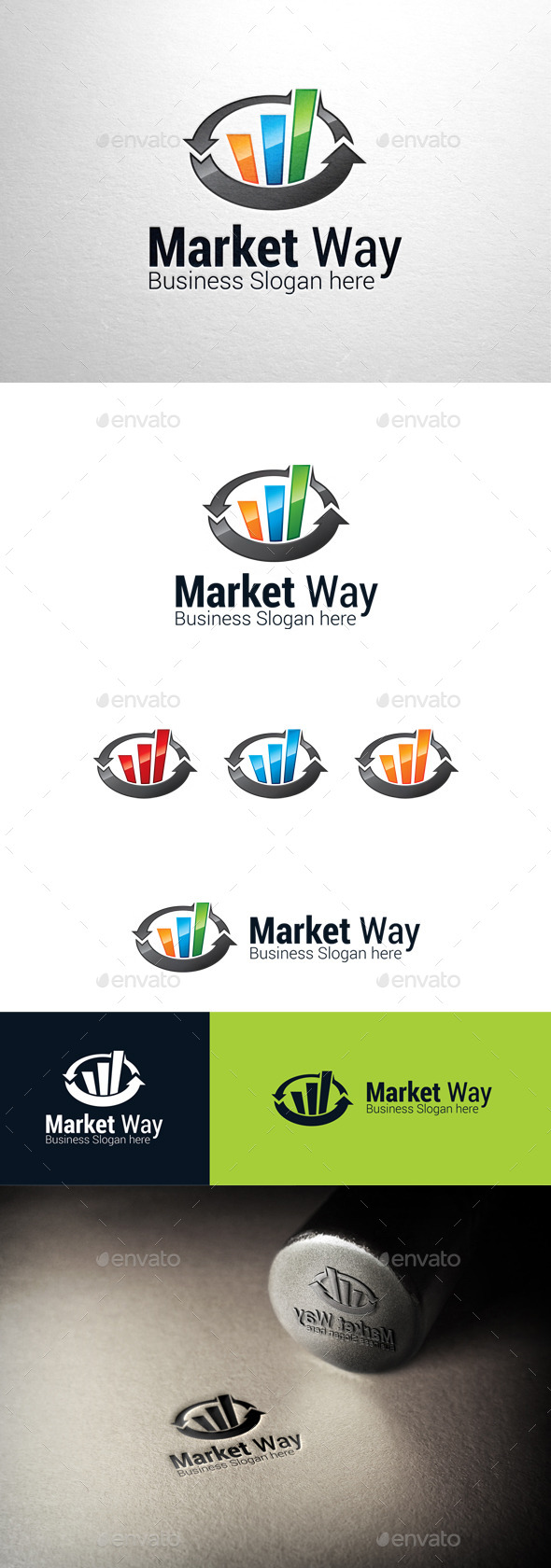 GraphicRiver Market Way Graph Logo 11148397
