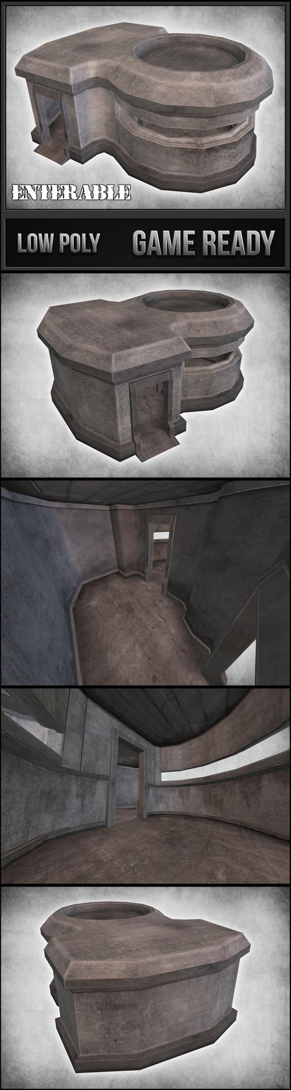 3DOcean Concrete Bunker 04 11148574