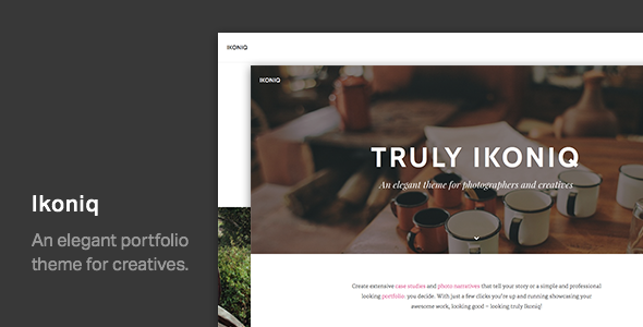 ThemeForest Ikoniq A Portfolio WordPress Theme 10821275