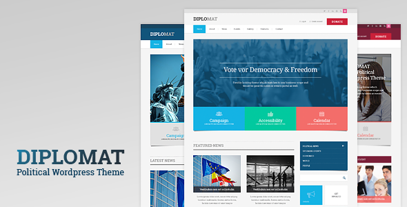 ThemeForest Diplomat Political WordPress Theme 11007888