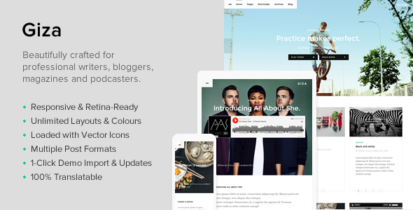 ThemeForest Giza A Multi Concept Theme For Writers 11148799