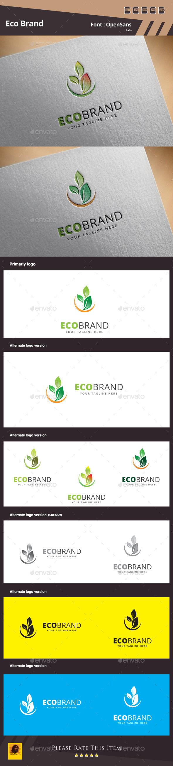 GraphicRiver Eco Brand Logo Template 11148856