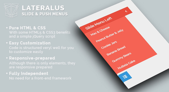 CodeCanyon Lateralus Slide & Push Menus 11068533
