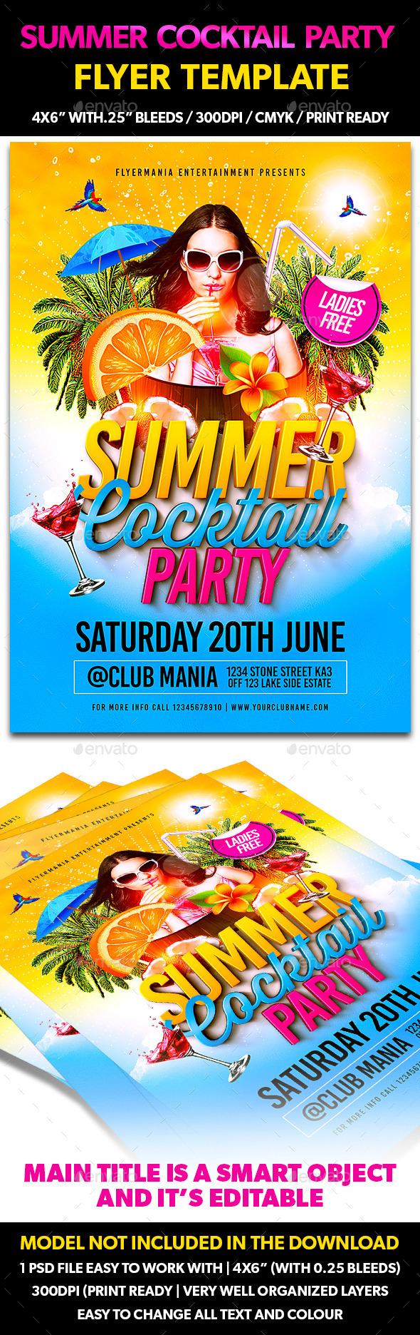 GraphicRiver Summer Cocktail Party Flyer Template 11149492