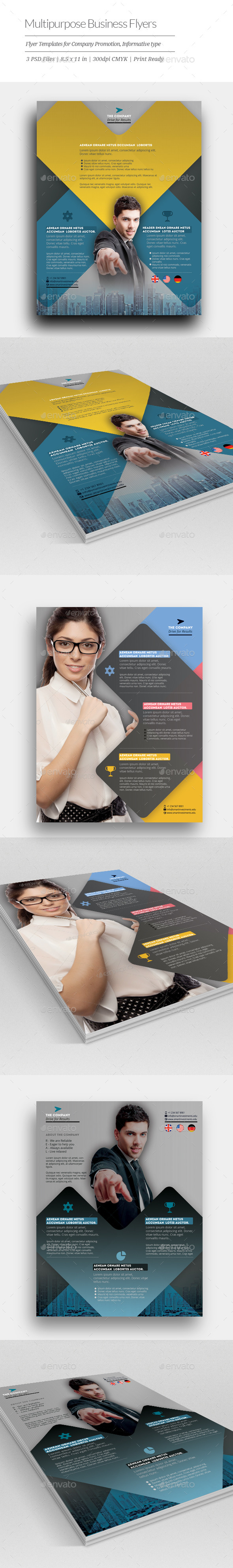 GraphicRiver Multipurpose Business Flyer Templates 11149593