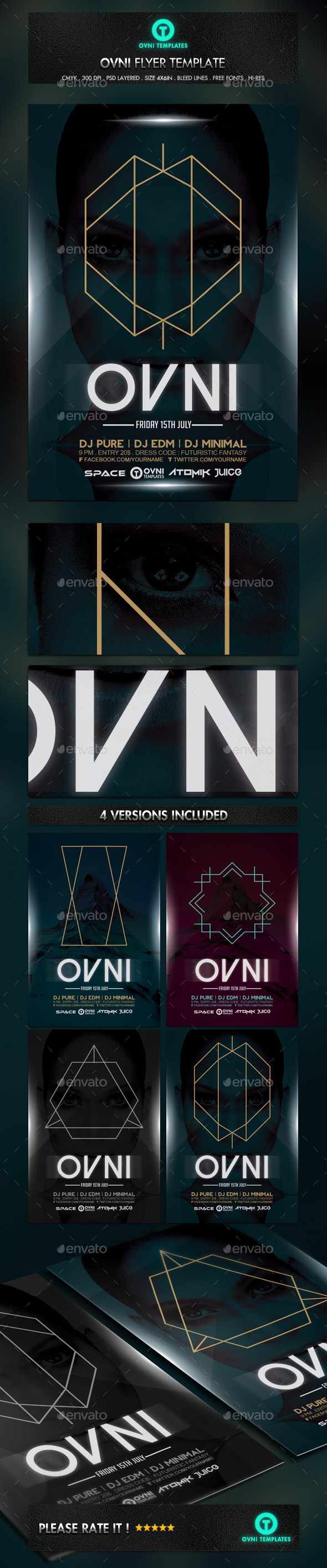 GraphicRiver Ovni Abstract Minimal Flyer Template 11149654