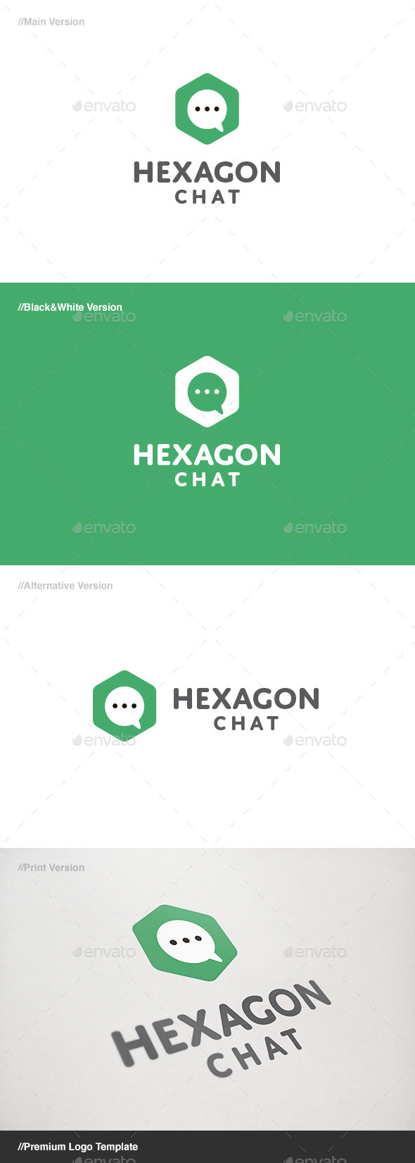 GraphicRiver Hexagon Chat Logo 11149664