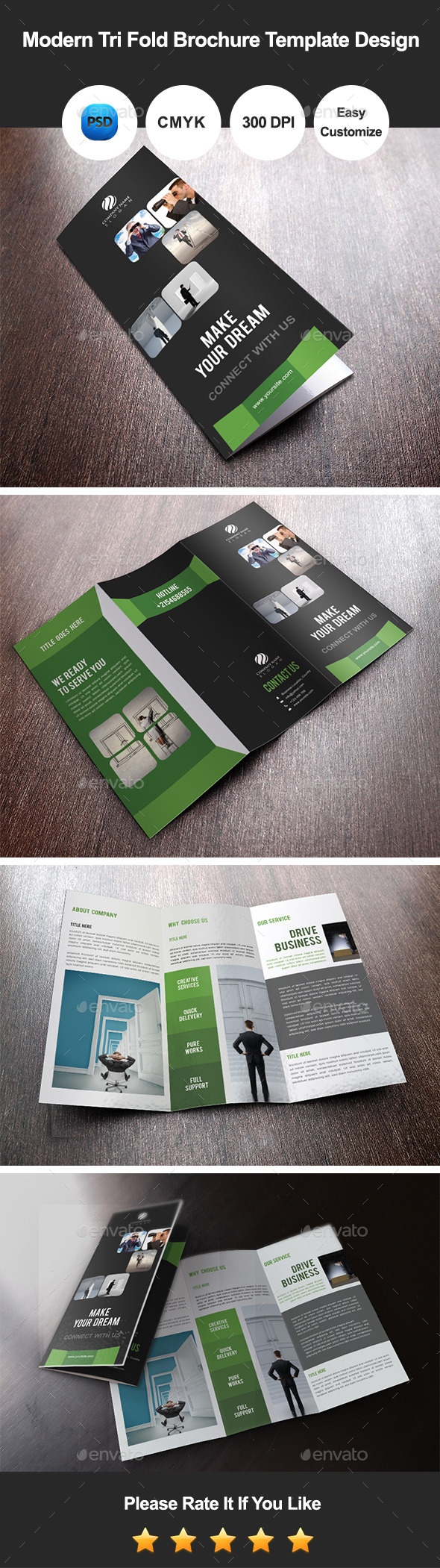 GraphicRiver Modern Tri Fold Brochure Template Design 11149703