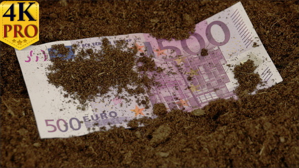 The 500 Euro Paper Bill On The Ground